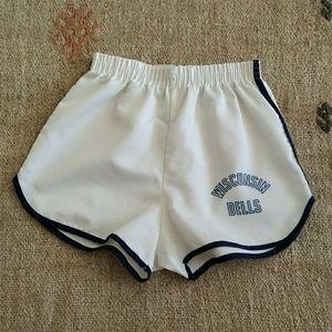 Vintage high waist track shorts xs